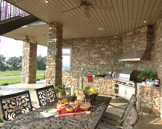 Mountain top home traditional patio charlotte by for Pippin home designs