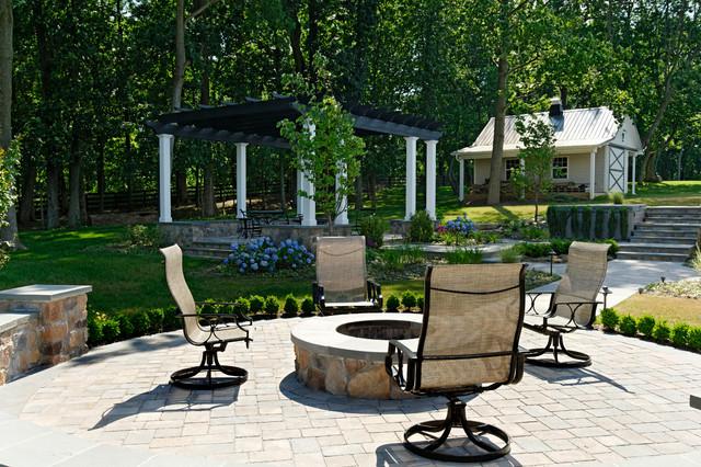 Multi Room Rear Landscape traditional-patio
