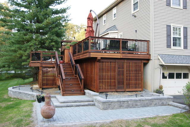 Multi Level Backyard Decks : Multi level decks and patios,landscape gravel sale in southern