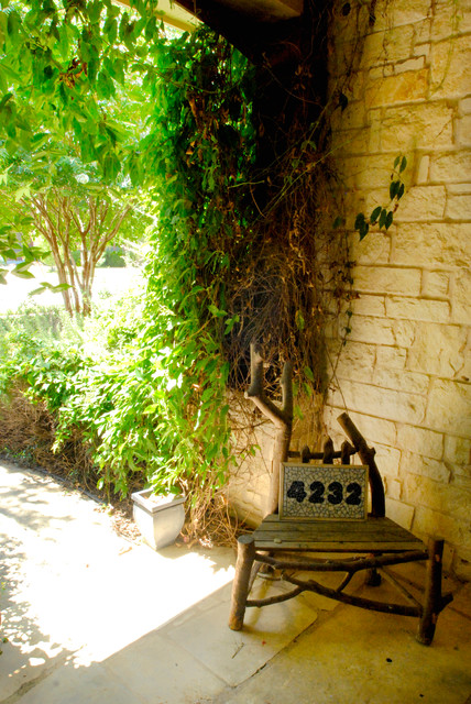 My House:  Hidden Hideway, Covered with Bamboo and Color contemporary-patio