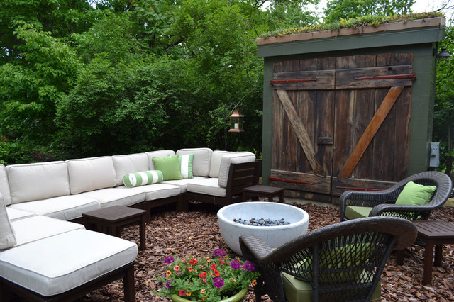 Wyncote home - exterior eclectic-patio