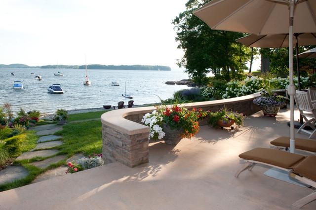 Lake Front Home, Burlington, Vermont - Contemporary ... on Lakefront Patio Ideas id=98547