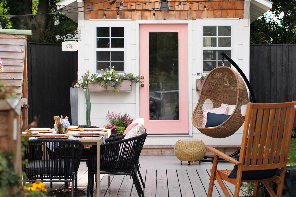 Inspiration for an eclectic patio remodel in Birmingham