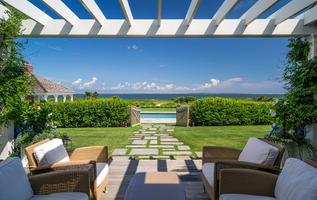 Nantucket residence beach style patio boston by for Houzz landscape architects