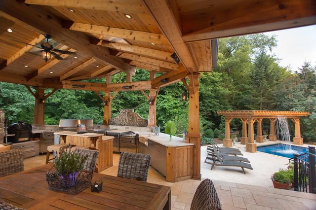 Naperville realtor luxury custom outdoor kitchen for Luxury outdoor kitchen