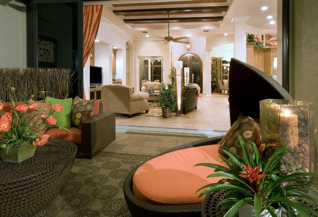 Naples FL Twin Eagles Golf Community contemporary-patio