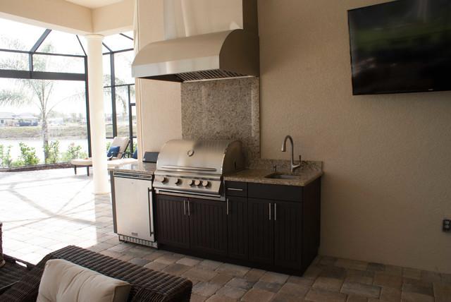 Naples Outdoor Kitchen By Okdc Modern Patio Other Metro By Outdoor Kitchen Design Center
