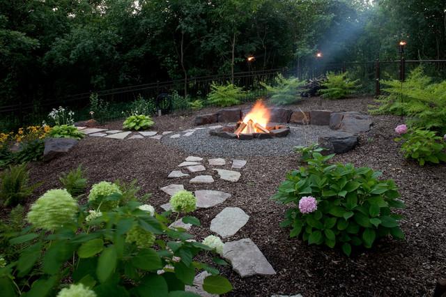 Natural And Fun Backyard Traditional Patio