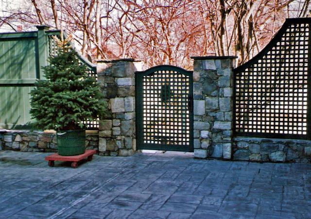 Brick And Stone Pillars : Natural stone and brick pillars patio providence by