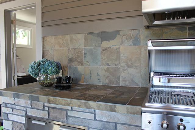 Natural Stone Countertop Rustic Patio Portland By