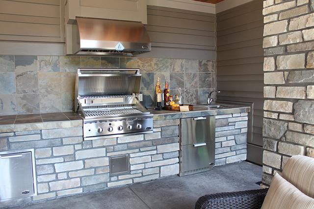 Natural Stone Countertop - Rustic - Patio - Portland - by Oregon Tile ...