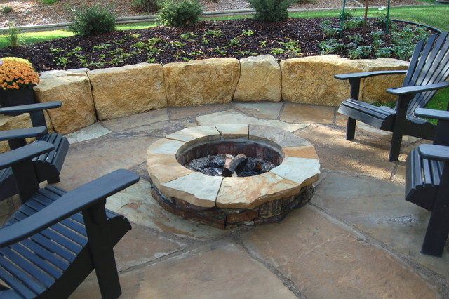 Natural stone patio amp walls traditional patio minneapolis by