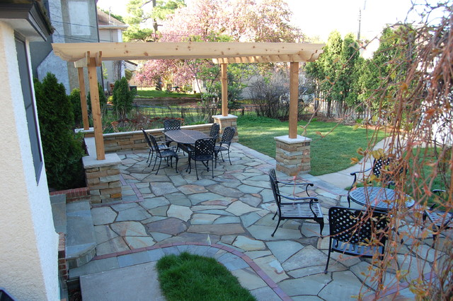 Natural stone patio walls traditional patio - Natural stone patio designs ...