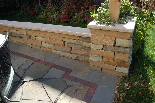 natural stone patio walls traditional patio