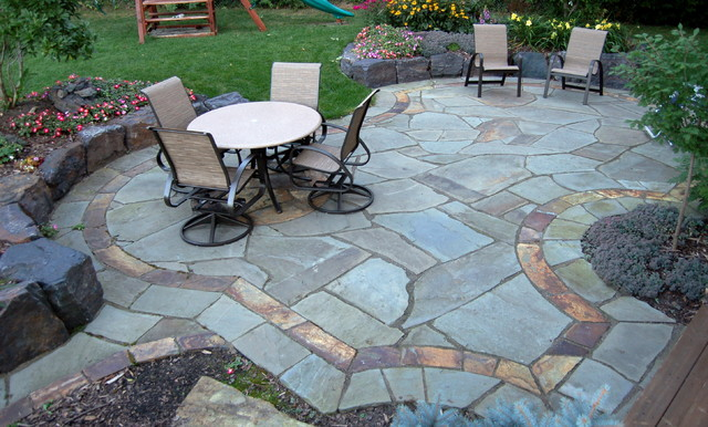 Natural stone patios & walls - Traditional - Patio - minneapolis - by Daryl Melquist @ Bachmans ...