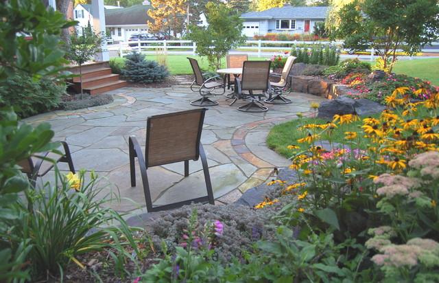 Natural stone patios & walls traditional-patio