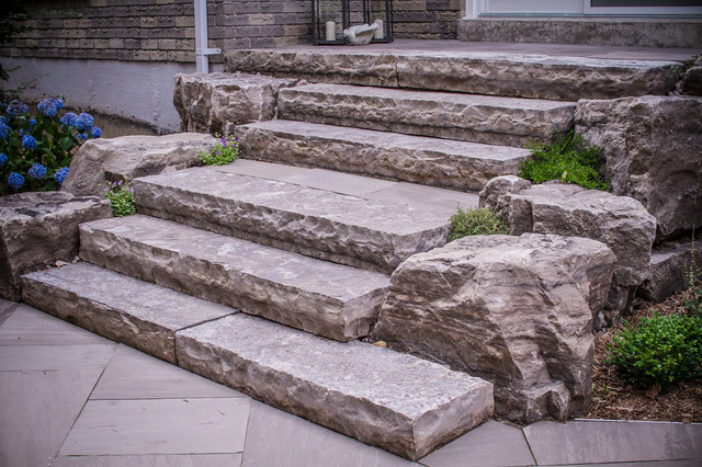 Natural Stone Stairs And Armour Stone Contemporary