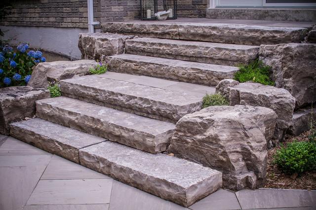 Patio   Mid Sized Contemporary Backyard Stone Patio Idea In Toronto