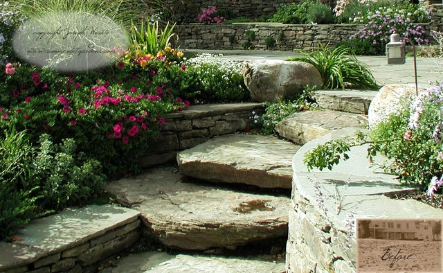 Natural Landscaping Steps : Natural stone steps traditional patio new york by