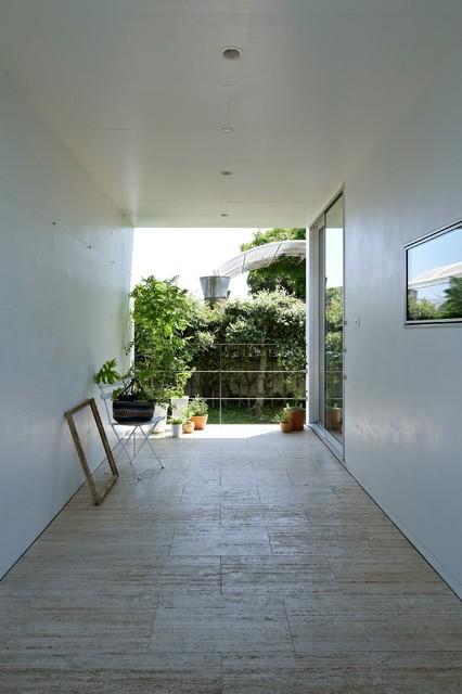 NDA _ Planter コンテンポラリー-テラス中庭