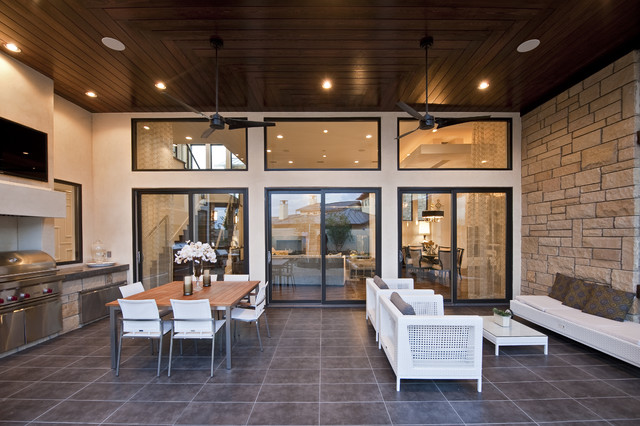 Neo Prairie Style Parade Home Transitional Patio