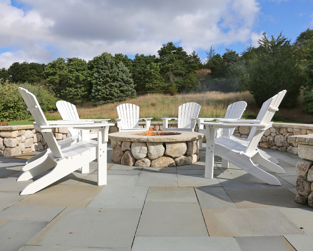 New Cape Cod Home Farmhouse Patio Boston By Encore