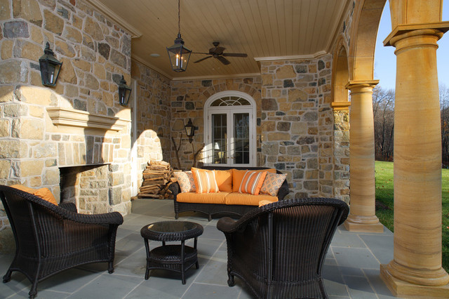 New Federal Revival Residence traditional-patio