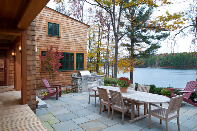 Patio House new hampshire lake house - traditional - patio - boston -