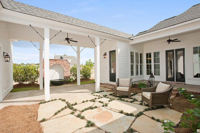 New orleans charm with a private courtyard craftsman for New orleans style house plans courtyard