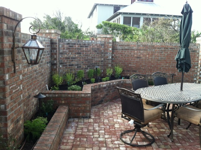 New Orleans Style Courtyard Traditional Patio Other