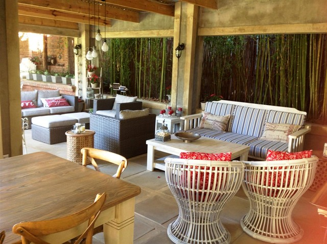 New outdoor rooms for Douw and Joey eclectic-patio