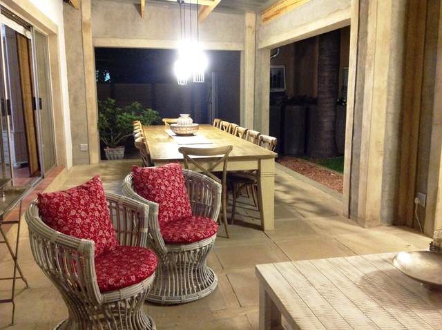 New outdoor rooms for Douw and Joey eclectic patio