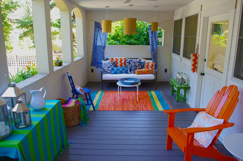 Where Are The Colorful Outdoor Rugs From? Thanks