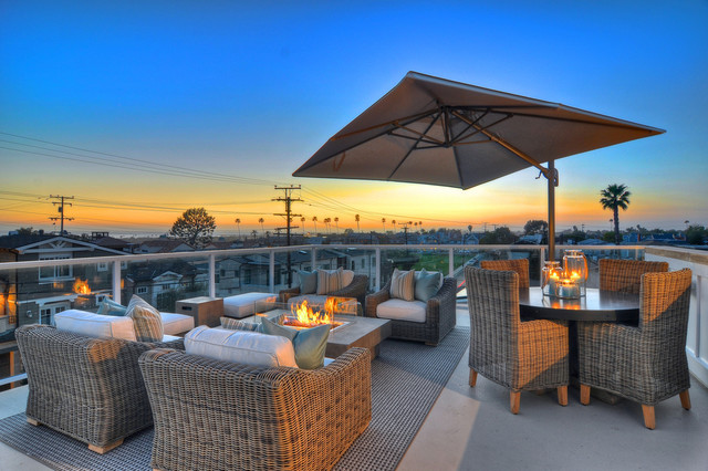 Newport Beach Rooftop Patio Traditional