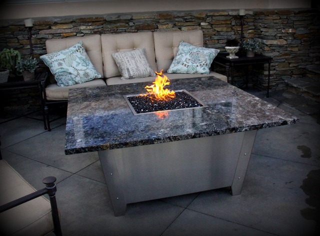 Newport Fire Pit Tables Eclectic Patio Los Angeles