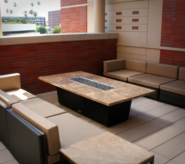 Newport Fire Pit Tables Traditional Patio by Cooke Furniture