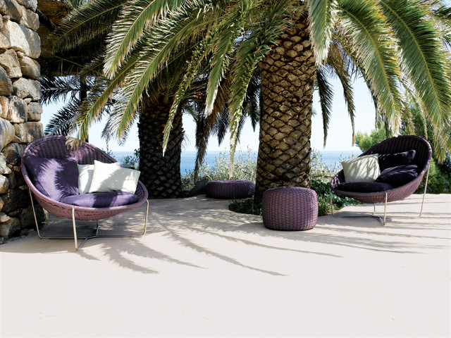 NIDO seat in nylon braid for outdoor by PAOLA LENTI tropical patio