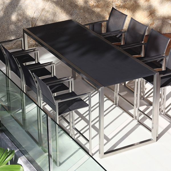Ninix Outdoor Bar Height Table And Stool Contemporary Patio