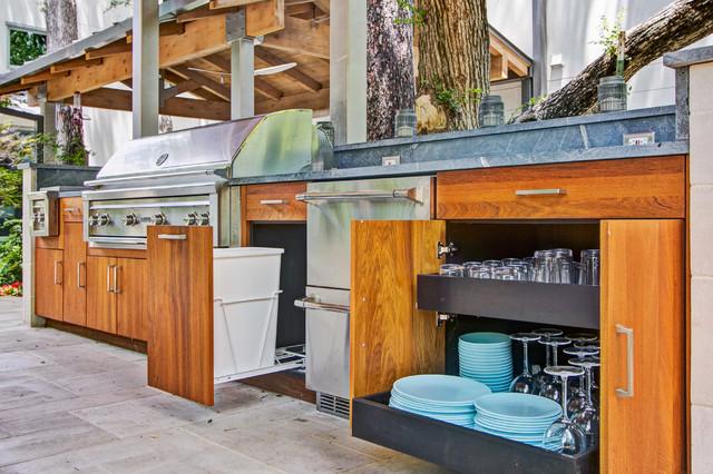 N dallas wildwood outdoor kitchen modern patio for Dallas outdoor kitchen designs
