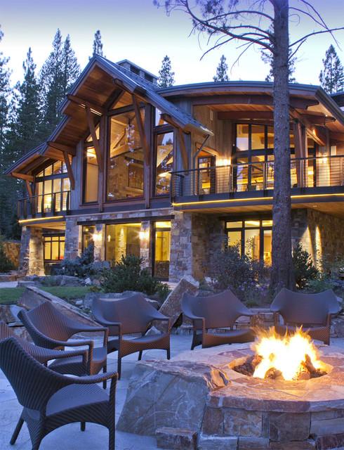 North Lake Tahoe Residence Rustic Patio San
