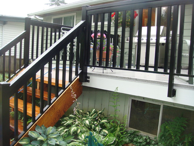 Exceptional North Vancouver ~ Cedar Stairs U0026 Wood Style Aluminum Railings  Traditional Patio