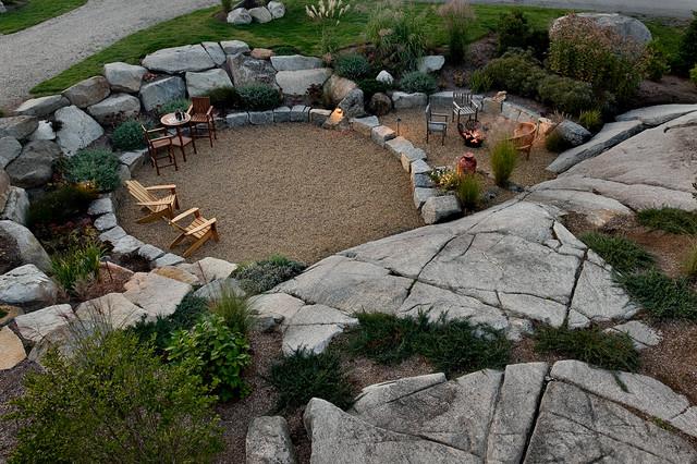 Nubble Camp rustic-patio
