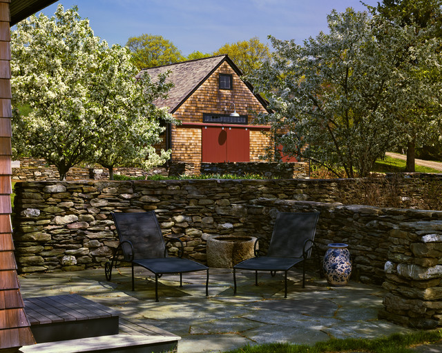 Ny state farm house farmhouse patio other metro by for Houzz landscape architects