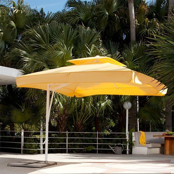 Offset Patio Umbrella Modern Patio