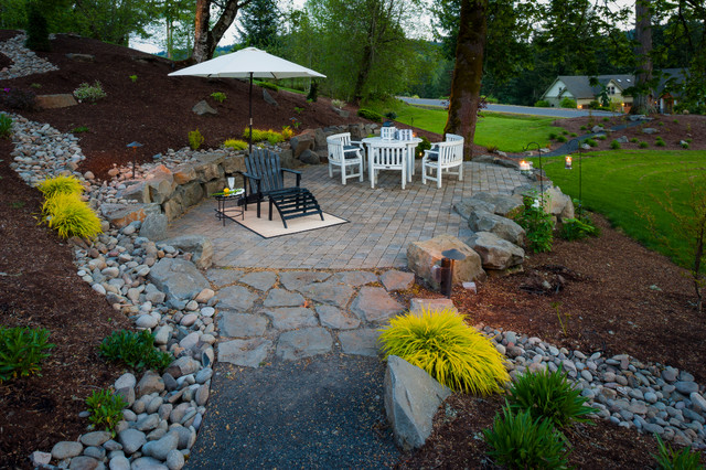 Paradise restored landscaping exterior design · landscape architects landscape designers olsen property traditional patio