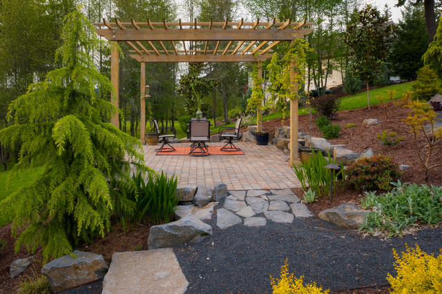 Olsen property traditional patio portland by for Paradise restored landscaping exterior design