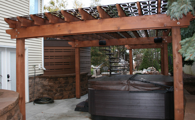 Olson Privacy Panels And Pergola Screen Transitional Patio