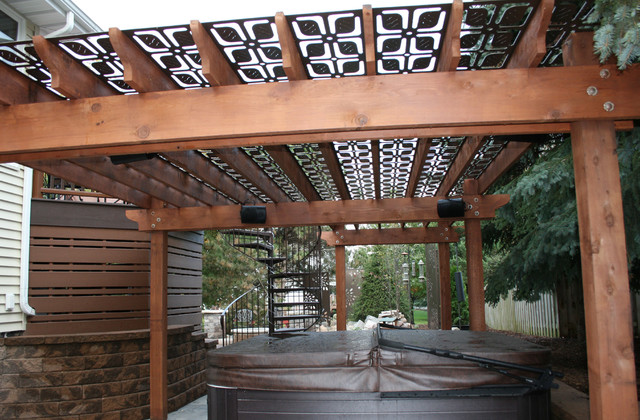 Attirant Olson Privacy Panels And Pergola Screen Transitional Patio