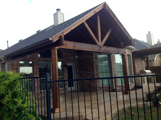 Open Gable Roof American Traditional Patio Dallas By Urban Oasis Outdoor Living