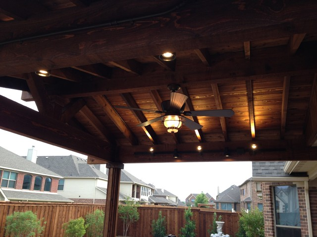 Open Rafter Cedar Patio Cover